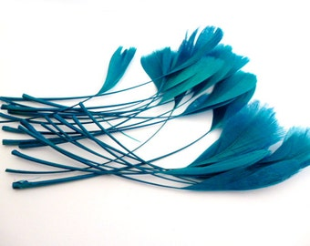 Natural Blue Feathers_PP012204501_Exotic Feathers_Blue_ of 10-15 cm_4-6in_pack 15-20 pcs