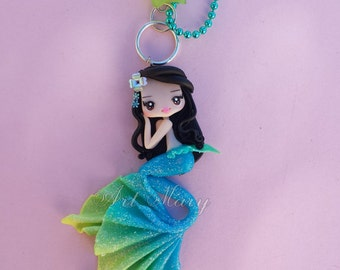 Mermaid blue fimo, polymer clay