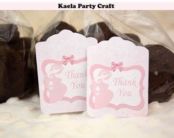 Ready to pop thank you tags. Ready to pop favor tags. Ready to pop favors. Ready to pop baby shower. Ready to pop baby shower decoration