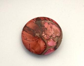 1 aqua terra jasper stone bead / 40mm #PP 221-2