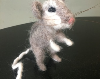 Needle felted brown mouse