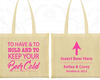 To Have and To Hold Bags, Wedding Favor Cotton Tote, Insert Beer Here, Bar Wedding Bags, Wedding Tote Bags (379)