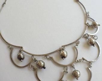 Mexican Delicate Beaded Collar Necklace