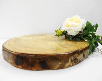 "14"" Wood Slab, Cake Stand, Rustic Wedding,Large Wood Slice, Tree Trunk, Stump, Centerpiece, Rustic Centerpiece, Rustic Decor"