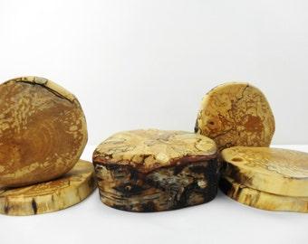 Tree Stump Centerpiece, Wood Slices, Tablewear, Kitchen & Dinning, Wedding, Parties, Wooden Trivetts, Coasters, Set of 6