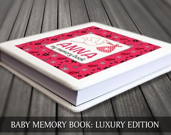 Lady bug album / Baby girl memory book with personalised cover page / Baby first year book / Baby record book / Baby journal / Baby diary