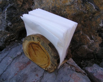 Rustic wood napkin holder