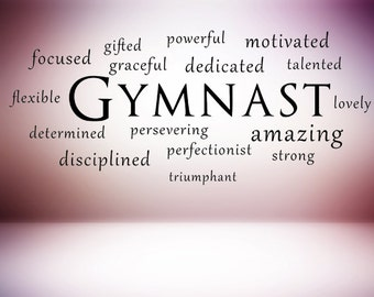 Gymnastics Wall Decals Etsy - Custom vinyl decals etsy