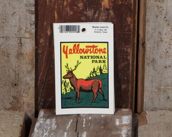 Yellowstone National Park - Vintage Bumper Sticker *LAST ONE!