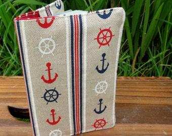 A nautical passport cover.  For the best dressed passport.  Passport sleeve.