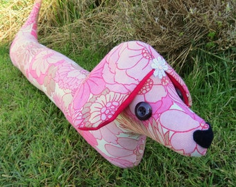 Sale!  Long dog.  Florence, a groovy retro draught excluder.
