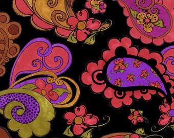Loralie Designs - Paisley Posie Black