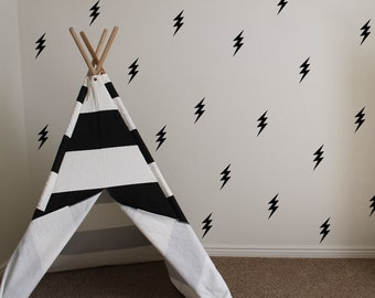 lightning bolt vinyl wall decals