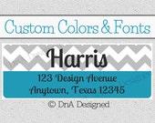 Personalized Return Address Labels DIY Print Labels Digital File Custom Address Labels Housewarming Gift Chevron {7AL}