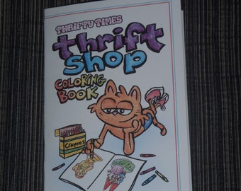 Thrifty Times Thrift Shop Coloring Book