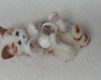 NOW SOLD ..needle felted cat