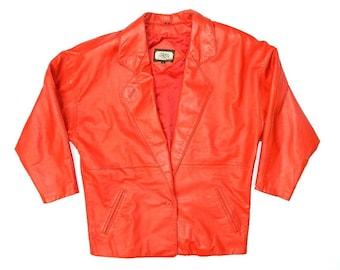 Vintage Leather Red Blazer