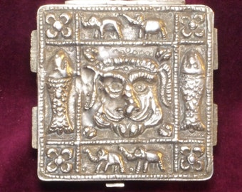 Decorative Silver Plated Trinket Box