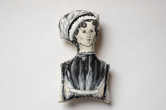 Jane Austen Doll // Softie // Baby Toy // Literary Baby // Famous Authors // Nursery // Gift for Children