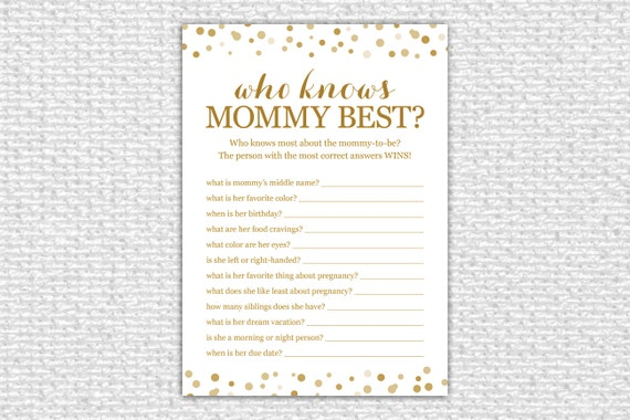 Sweet image for who knows mommy best free printable