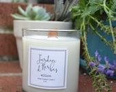 Jardin d'herbes ellion wood wick Candle
