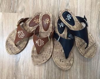 Monogrammed Sandal