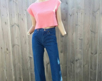 Vintage 80s Espirit Pink Crop Top