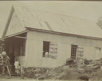 Very Old Sidney Arnett Trading Post Monrovia Liberia Africa Photo On Cardboard - Free Shipping