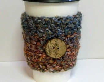 Coffee Cup Sleeve Cozy Take Out Coffee Cup Sleeve Take Out Coffee Cup Cozy Crocheted Coffee Cup Sleeve Blue Coffee Cup Sleeve Take Out Cozy