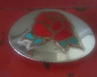 Beautiful Rose Belt Buckle