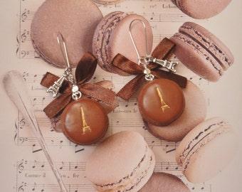 earrings eiffel tower macarons