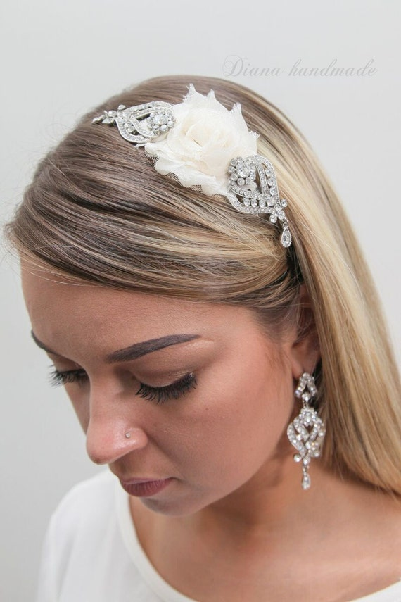 items similar to wedding hair accessory white or ivory