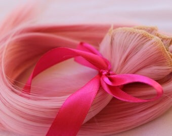 Pink hair extensions etsy 26 pink hair extensions halloween hair clip in extensions unicorn cosplay pmusecretfo Choice Image