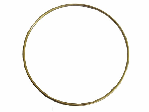 Lot of 10 gold metal brass macrame craft dreamcatcher for 3 inch rings for crafts