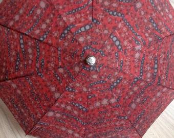 Vintage Umbrella by Knirps - Vintage Umbrella - Red Umbrella - Vintage Parasol - Red Parasol - Gift for Her