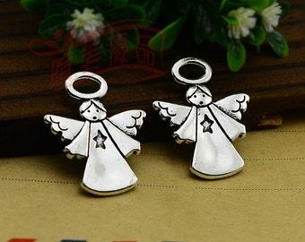 10 pcs 30x25mm Antique silver Angel Charm pendants
