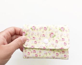 Mini Floral Business Card Holder, Womens Wallet, Vintage Inspired Wallet