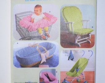 Baby Accessory Sewing Pattern Basinet Insert And Covers For Shopping Cart Car Seat Umbrella Stroller & Glider Chair UNCUT Simplicity 4636