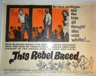 Vintage Cinema Poster THIS REBEL BREED -Teens Racism #60/62 Black Rebels 1950s