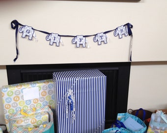 Elephant Gifts Banner, Baby Shower Decor, Bridal Shower Banner