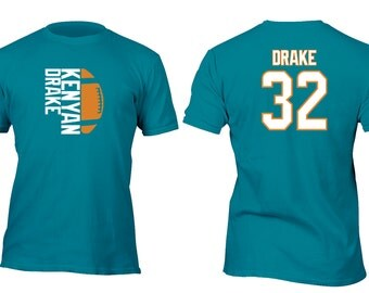 Limited Edition Teal Dolphins Drake Opt 2 Football Shirt All sizes up to Plus 5x