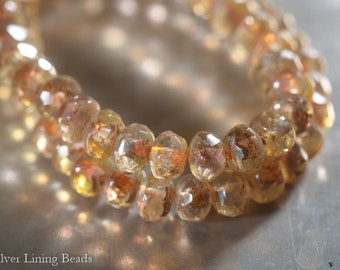Crystal Bits (50) - Czech Glass Bead - 3x5mm - Faceted Rondelle