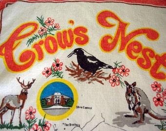 Crows Nest Hong Kong linen tea towel