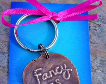 Fancy as Fcuk Keychain Handmade Copper Key Ring Fancy as F*ck Fancy as Fuck