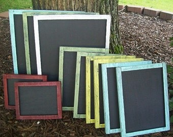 Chalkboard - Chalk Board Set - Wedding Decor - Wedding Decoration - Rustic Wedding Decorations - Black Board - Wooden Chalkboard - Handmade