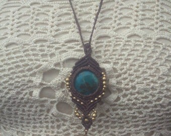 Beautyful magic spiritual Jewelry ~cosmic Aura~ Crysocoll Healing Crystal Makramee Bohemian Necklace