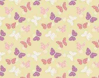Bunny Garden A149-3 Butterflies on sunshine Lewis & Irene Patchwork Quilting Fabric