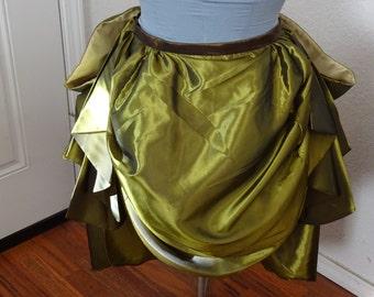 Knee length bustle skirt