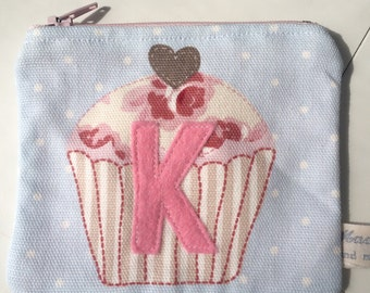 Cute zipper coin purse, cupcake, sweet for kids, personalised