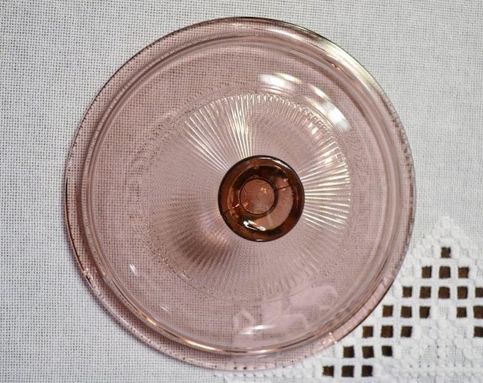 Vintage Pyrex Visions Cranberry Lid V1C Replacement Pink Purple PanchosPorch